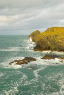 Trevan Point, in Port Quin Bay.