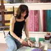 Artist Jane Price in her studio