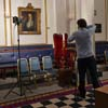 Photographing in Grand Temple of Freemasons, St James'