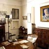 Photography set up in Dining Room of Shaw Corner, with Augustus John's painting of Shaw