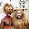 Lion Kings and Wizard of Oz Lions meet at Trafalgar Square