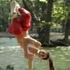 Brazilian capoeira performer
