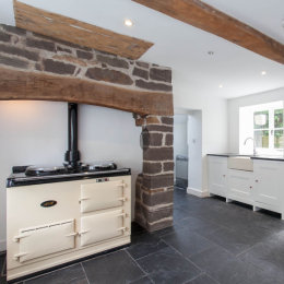 Timber Framed Character Building Kitchen with AGA
