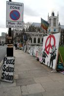 Brian Haw peace demonstration display