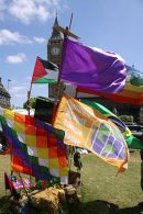 Democracy Village flags