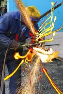 Musical metal welder,