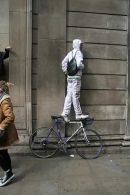 A bicyclist more in balance than the economy