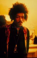 Jimi Hendrix at home