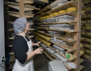 Curing cheese in the cave
