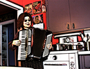Davida Kidd with accordian