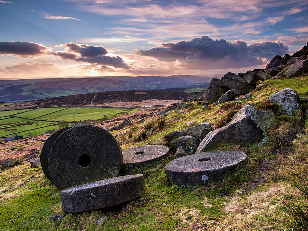 Millstones near Stanage